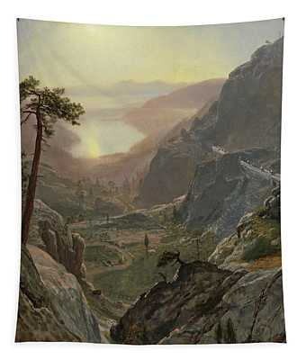 View Of Donner Lake Tapestry
