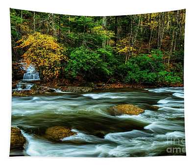 Waterfall Back Fork Of Elk Tapestry