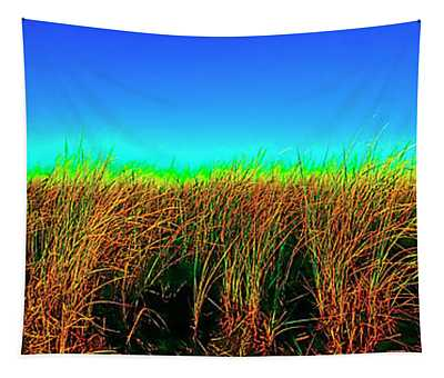 Wells Rachel Carson Wildlife Refuge Grass And Dunes Tapestry