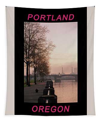 Willamette Riverfront Portland Oregon Tapestry