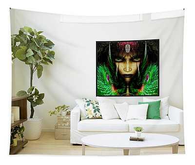 Zyneste Nadale The Warrior Princess  Tapestry
