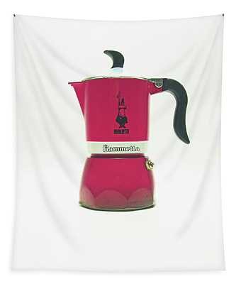 10-05-19 Studio. Red Cafetiere. Tapestry
