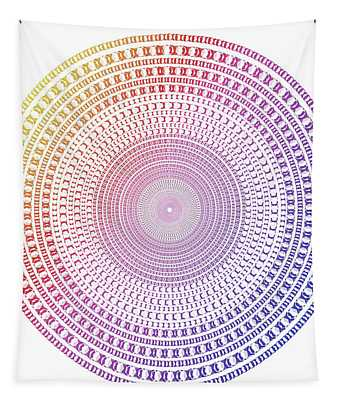 Vintage Multicolor Circle Tapestry