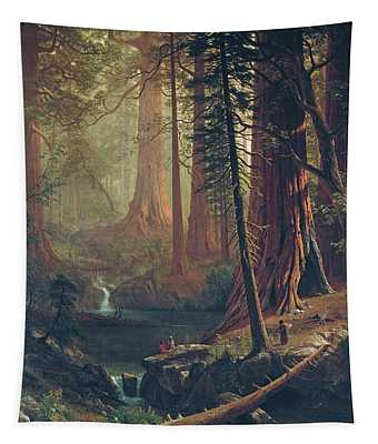 Giant Redwood Trees Of California Tapestry