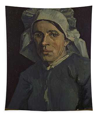 Head Of A Woman Tapestry