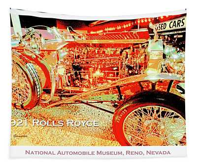 1921 Rolls Royce Classic Automobile Tapestry
