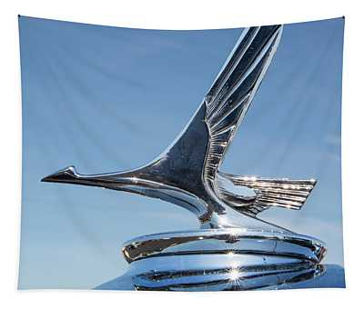1931 Studebaker Automobile Hood Ornament Tapestry