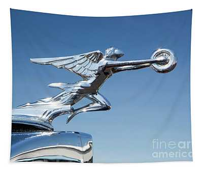 1934 Packard Automobile Hood Ornament Tapestry