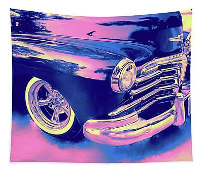 1948 Chevy Fleetline On The Down Low Blue Tapestry