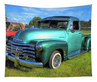 1950 Chevy Pickup Lowrider Bomb Tapestry
