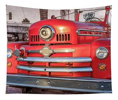 1952 Seagrave Fire Truck  Tapestry