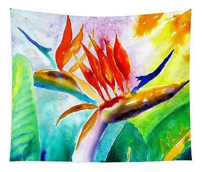 Bird Of Paradise Tapestry