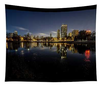 Chicago Skyline At Dawn  Tapestry