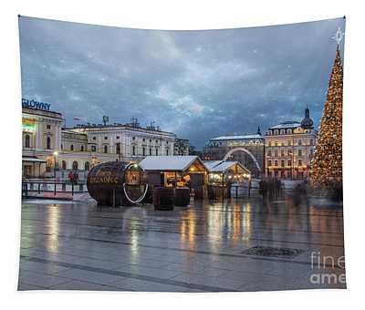 Christmas In Krakow Tapestry