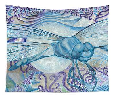 Dragonfly Moon Tapestry