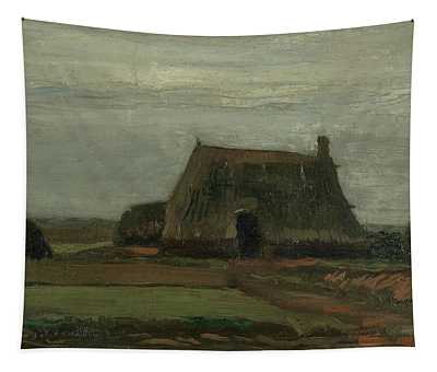 Farm With Stacks Of Peat Tapestry