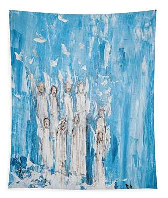 Heavenly Host Of Angels  Tapestry