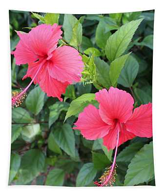 2 Hibiscus Tapestry