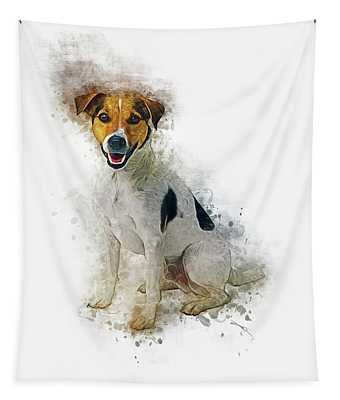 Young Animal Digital Art Wall Tapestries
