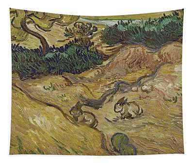 Landscape With Rabbits Tapestry