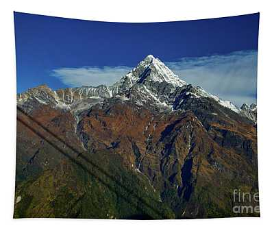 Machapuchare Mountain Fishtail In Himalayas Range Nepal Tapestry