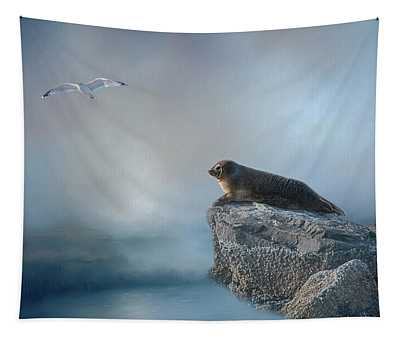 On The Rocks Tapestry