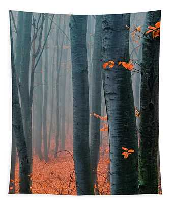 Orange Wood Tapestry