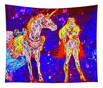 She - Ra And Swift Wind Tapestry