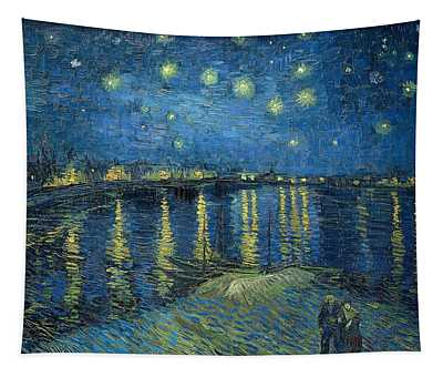 Starry Night Over The Rhone 1888 Tapestry