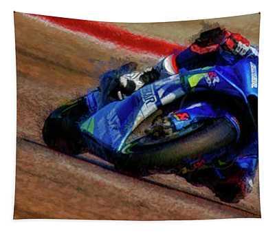 2019 Motogp Alex Rins Suzuki Tapestry