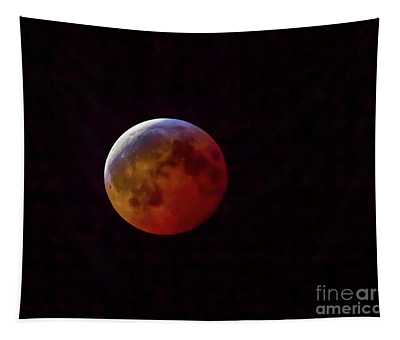 2019 Super Blood Wolf Moon Tapestry