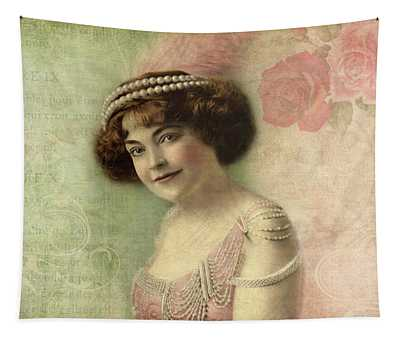 20th Century Actress In Beaded Gown Tapestry