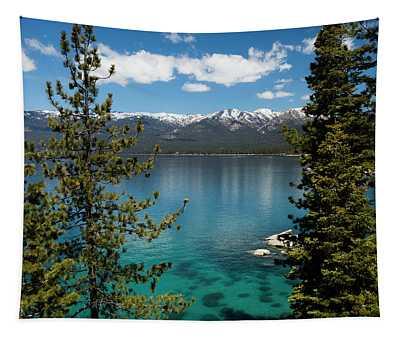 Lake With Mountain Range Tapestry