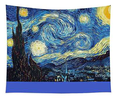 Tapestry featuring the painting Starry Night By Van Gogh by Vincent Van Gogh