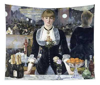 A Bar At The Folies Bergere Tapestry