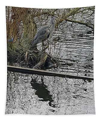 Grey Heron Tapestry