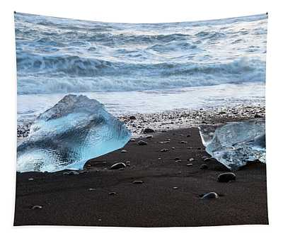 The Diamond Beach, Jokulsarlon, Iceland Tapestry