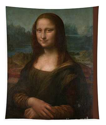 Tapestry featuring the painting Mona Lisa by Leonardo da Vinci