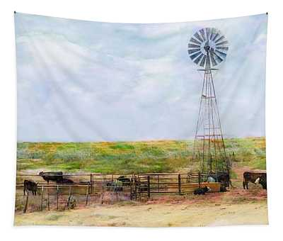 Classic Cattle  Tapestry