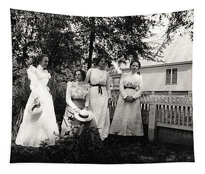 4 Dresses Tapestry