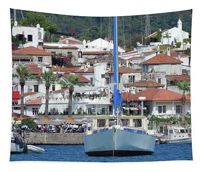 Yachting Marina Of Marmaris In Turkey Resort Town On The Aegean  Tapestry
