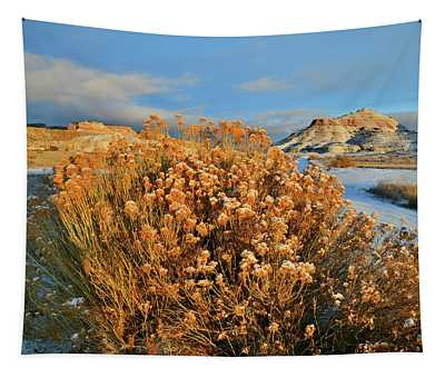 First Light On Ruby Mountain  Tapestry