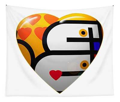 Love Heart Tapestry