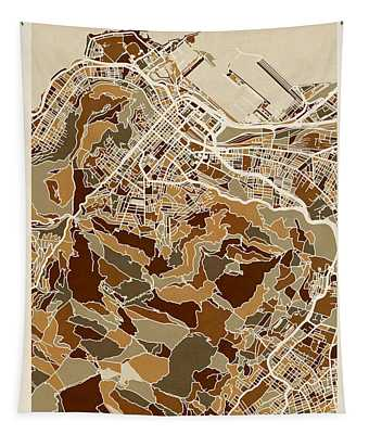 Cape Town South Africa City Street Map Tapestry