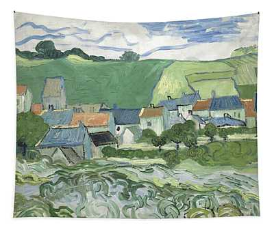 View Of Auvers Tapestry