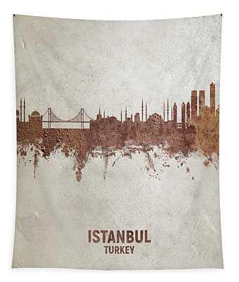 Istanbul Turkey Skyline Tapestry