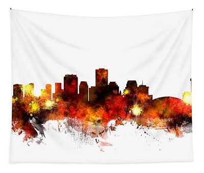 New Orleans Skyline Wall Tapestries