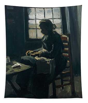 Woman Sewing Tapestry