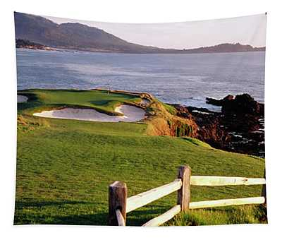 7th Hole At Pebble Beach Golf Links Tapestry