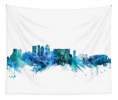 Cape Town South Africa Skyline Tapestry